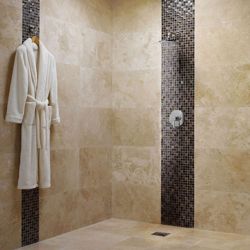 Create and complement mix and match your tiles walls for Travertine eye drops