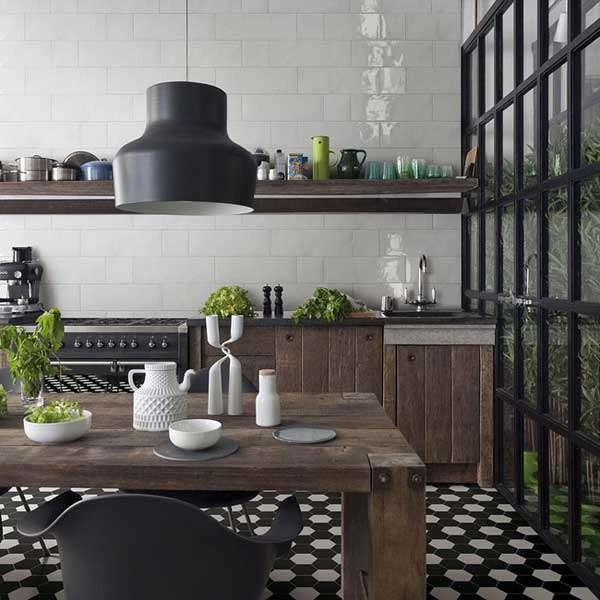 kitchen hexagon tiles