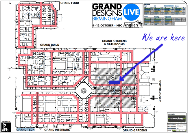 Grand designs live 2014 an exciting new stand walls and for Grand design floor plans