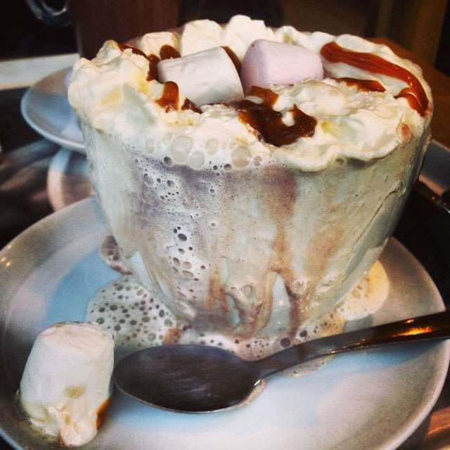 Cinnamon and sticky toffee hot chocolate
