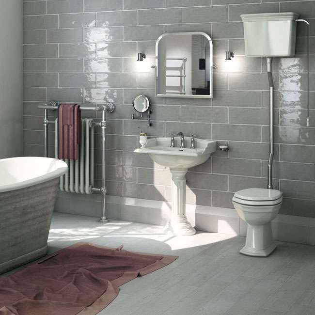 Low Cost High Impact Make A Statement Walls And Floors - Low cost bathroom tiles