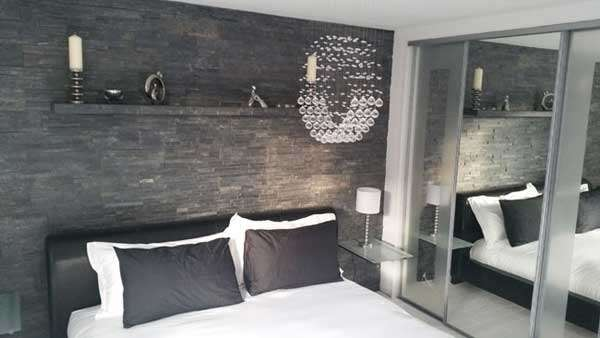 Slate Splitface Tiles In Bedroom