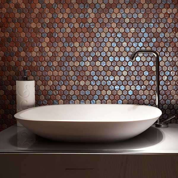pizzazz recycled glass mosaic tiles