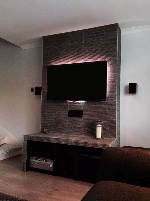 Customer DIY Project: Splitface Tile TV Stand | Walls and Floors