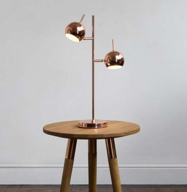 Copper austin table lamp from Made dot com