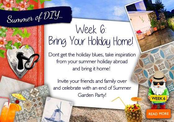 Week 6 bring your holiday home with you