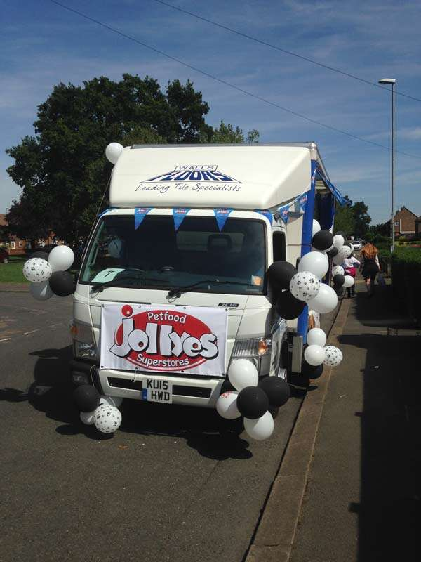 Kettering carnival Walls and Floors float