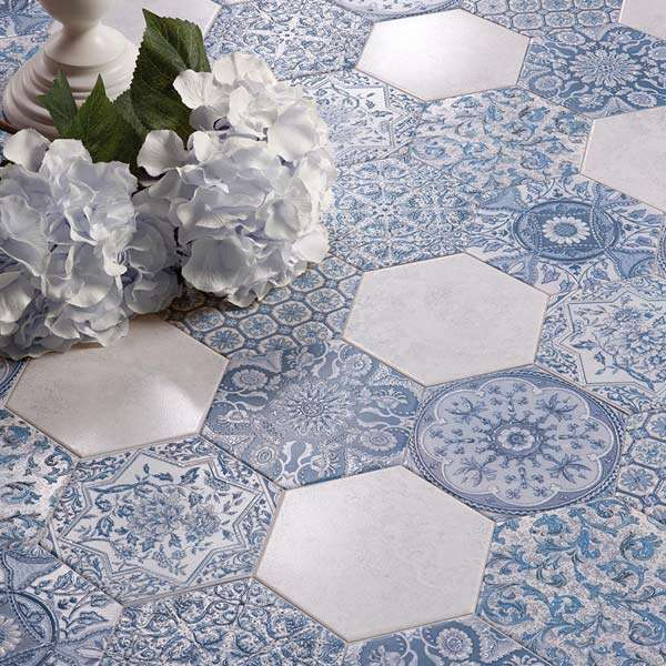 Affair hexagon Moroccan tiles
