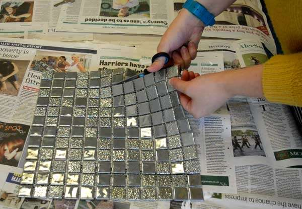 cutting mosaic tile sheet
