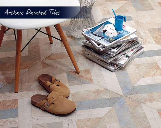 Archaic Painted Wood Effect Tiles