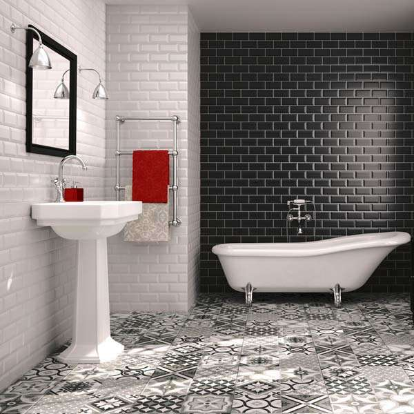 Black and White Bathroom Themese