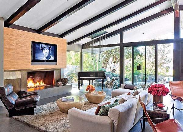 John Legend natural living room