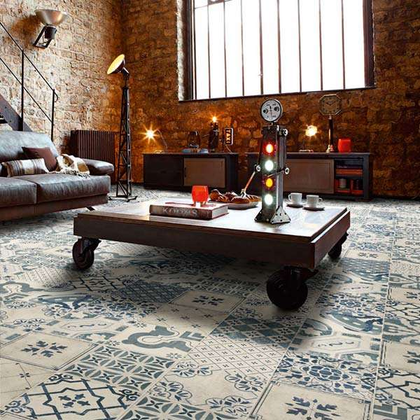 Tangier Antique Decor Floor Tiles from Walls and Floors