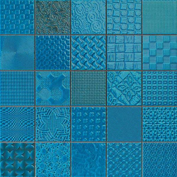 Azul patchwork mosaic tiles from Walls and Floors