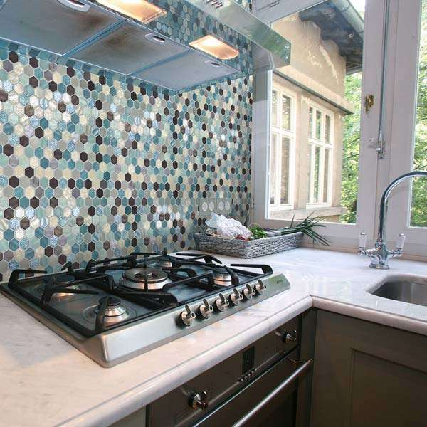 Bewitched Hexagon Mosaic Tiles from Walls and Floors