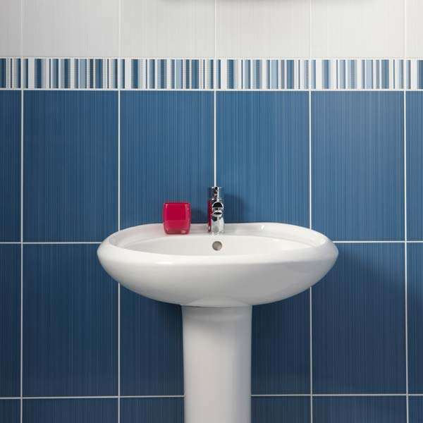 Blue Linear Brighton Pavillion Tiles from Walls and Floors