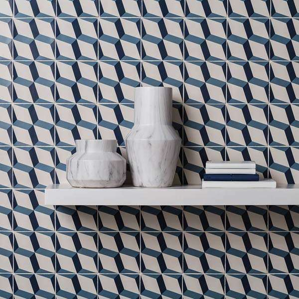 Fitzrovia geometric decor wall tiles from Walls and Floors