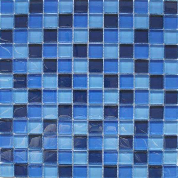 Sapphire Blue Glass Blended Mosaic Tiles from Walls and Floors