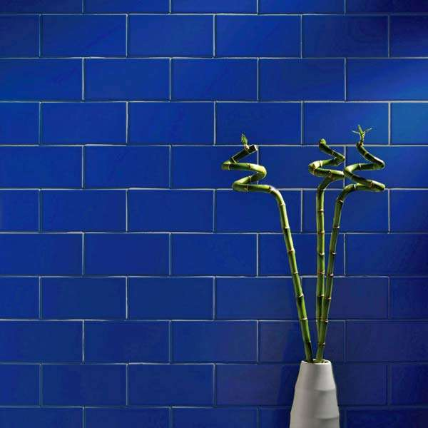 Knightsbridge smooth blue metro tiles from Walls and floors