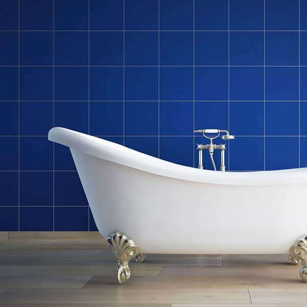 Sapphire Dark Blue Gloss Marvel Wall Tiles from Walls and Floors
