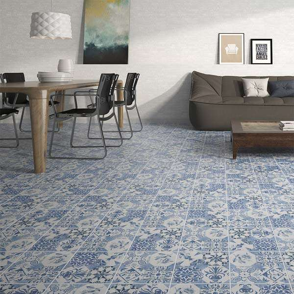 Vintage quarry decor floor tiles from Walls and Floors