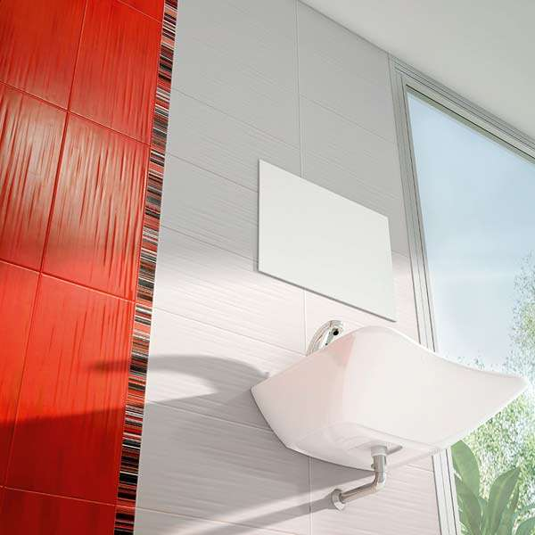 Astir textured red wall tiles