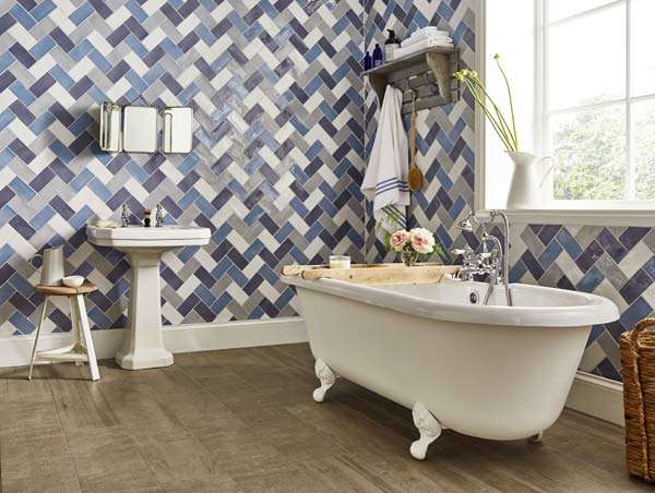 Country bathroom tiles