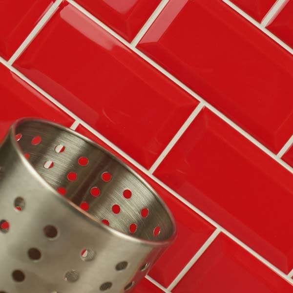 Liverpool Street Red Metro Gloss Tiles