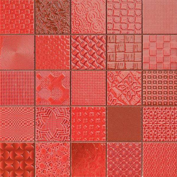 Rojo Red Patchwork Mosaic Tiles