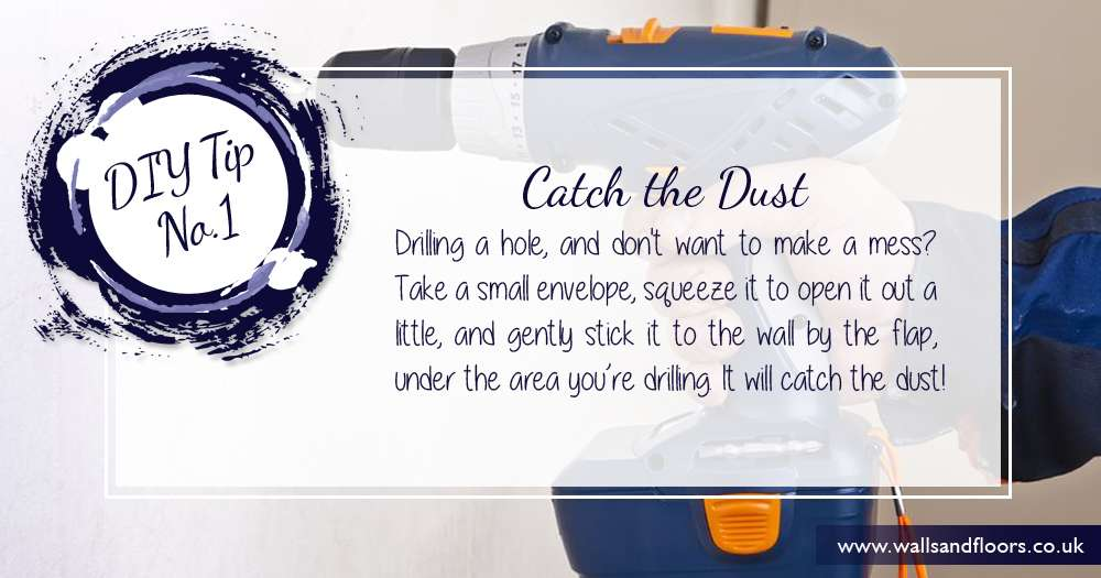 DIY TIp Use an envelope to catch dust