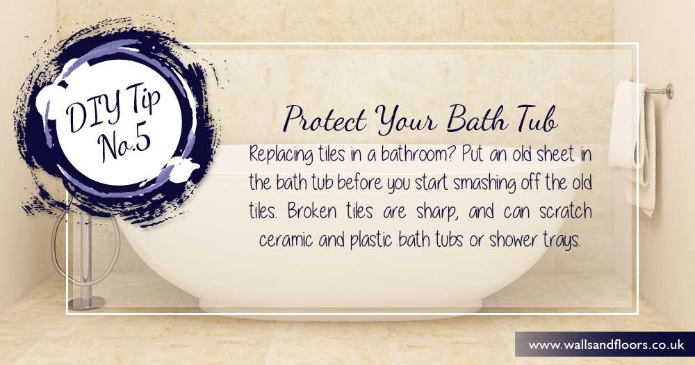 Protect a bath by using a dust sheet
