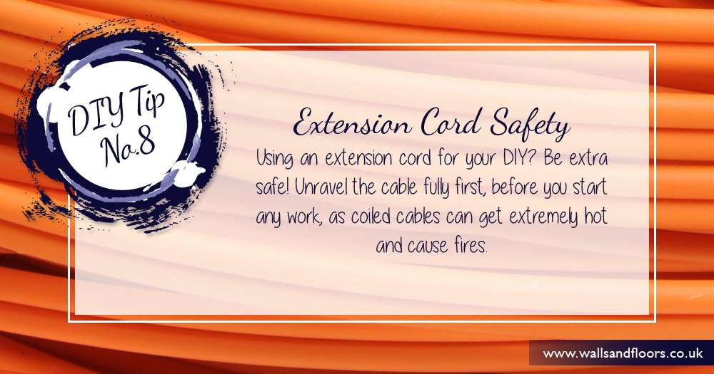 Unravel extension cord before using