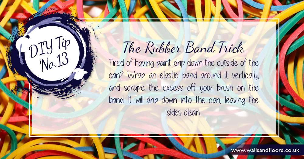 DIY tip wrap rubber band around paint can