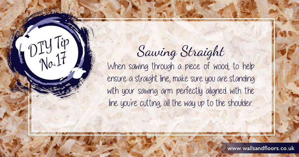 DIY tip how to saw in a straight line