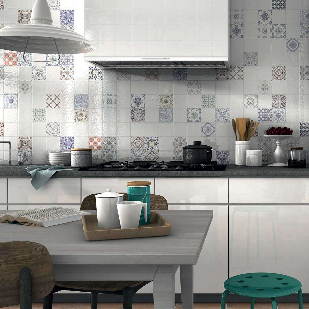 Patterned floor tiles kitchen - Create A Summery Kitchen With Moroccan Tiles Walls And Floors