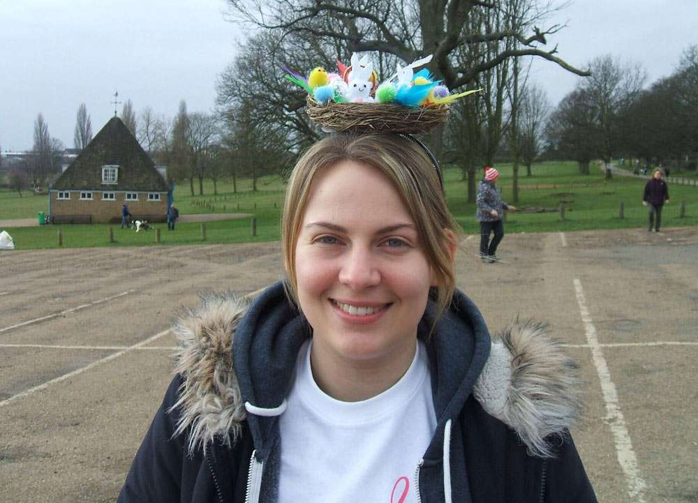 Susie crazy hats cancer appeal charity walk