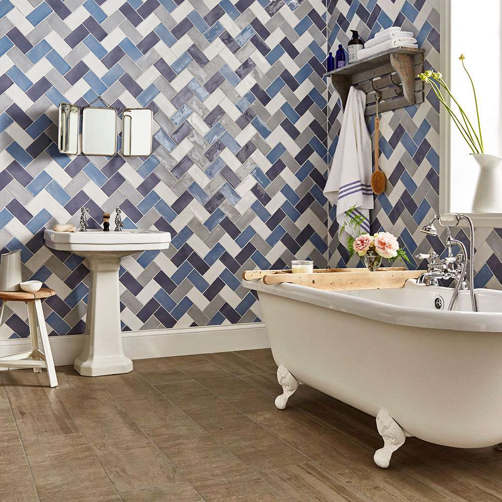 How To Bring Tiles to Life with the Herringbone Pattern | Walls and ...