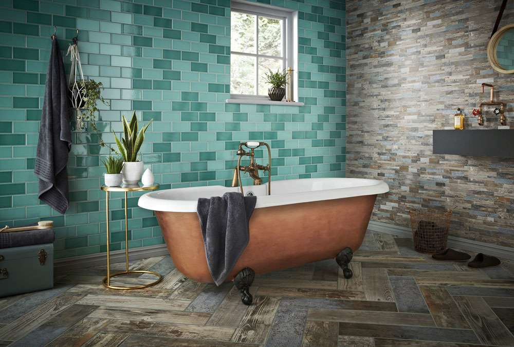 Teal Tiles This Years Must Have Colour Walls and Floors