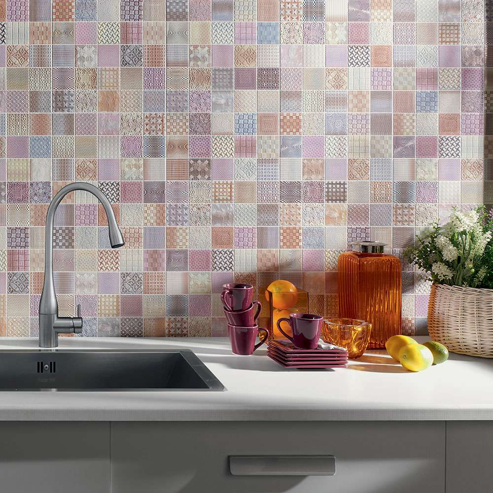 patch work mosaic tiles