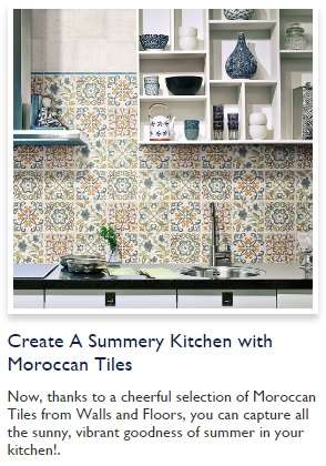 create a summery kitchen with Moroccan tiles