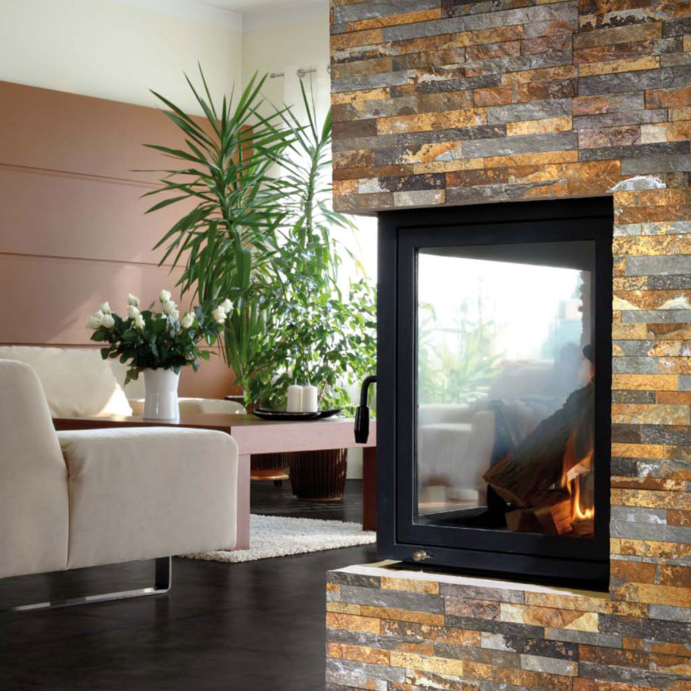 can i use tiles around my wood burner walls and floors