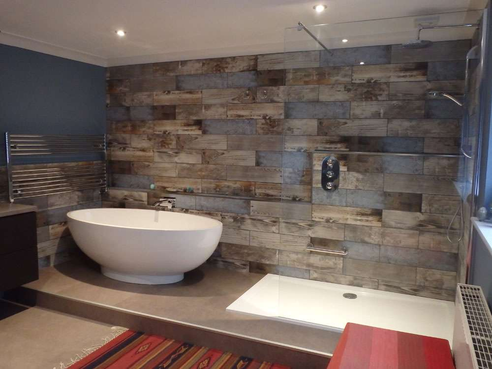 Reclaimed Wood Rachel 39 S Bathroom Transformation Walls And Floors Walls And Floors
