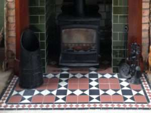 Claire period fireplace tiles