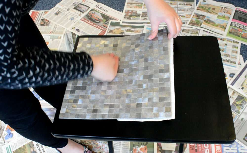 Peel and stick smart mosaic tiles