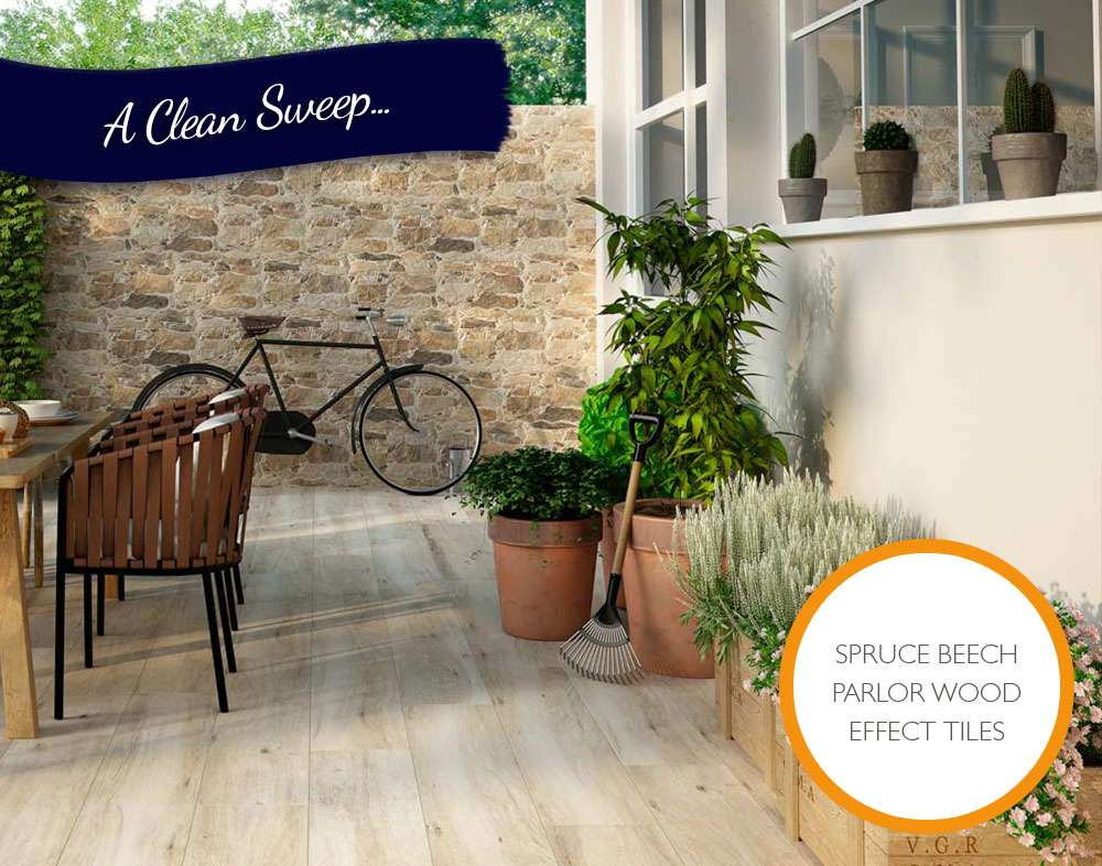 spruce wood effect tiles