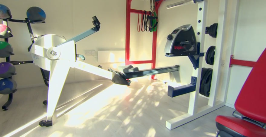 home gym in garden for disabled teenager