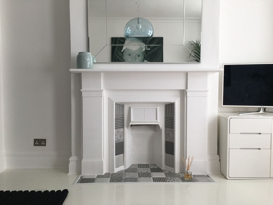 zia pattern tiles fireplace hearth and surround