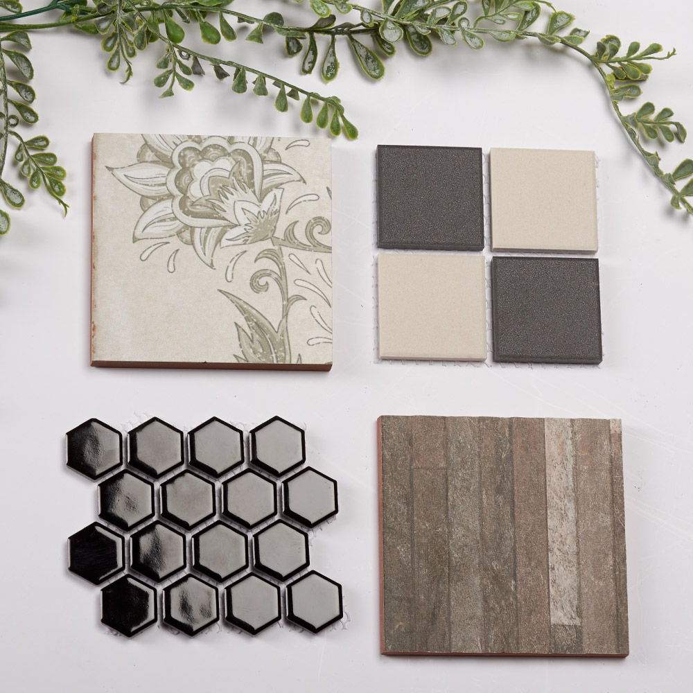 4 tile samples paired together