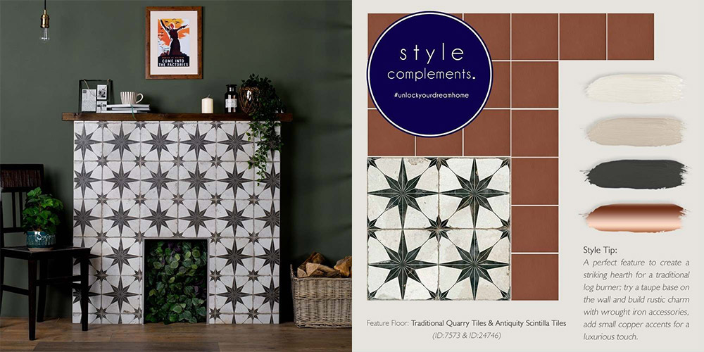 scintilla tiles on a fireplace with style compliments advice