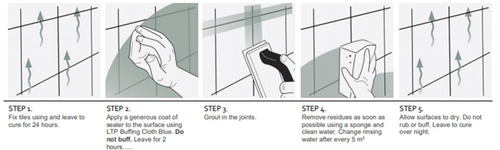 step by step information on how to seal crackle glaze tiles